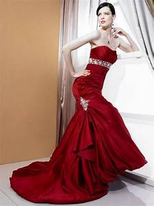 fashion beauty modern beautiful red wedding dresses With wedding dresses red