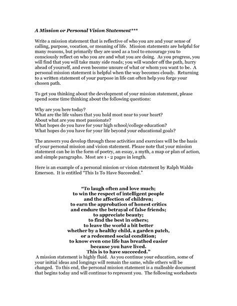 personal mission statement yahoo mission statements