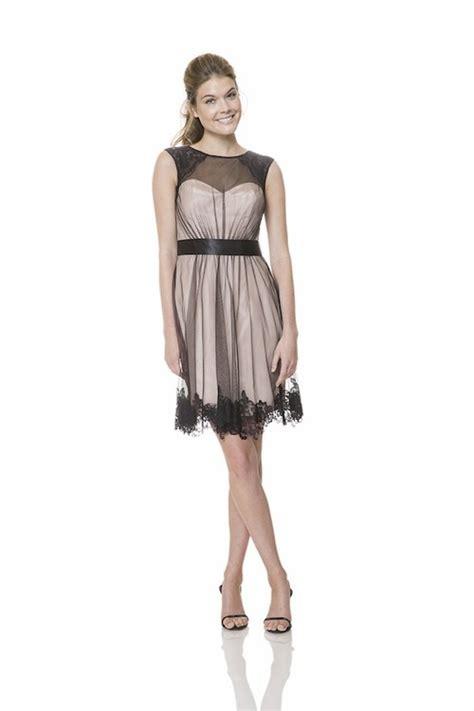 scoop neckline short champagne black tulle lace