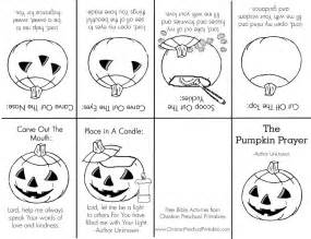 The Pumpkin Patch Parable Printable by Footprints Prayer Coloring Pages