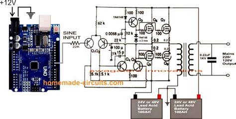 make this 1kva 1000 watts sine wave inverter circuit circuit projects