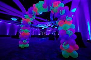 Neon and black light theme for your Quinceanera party