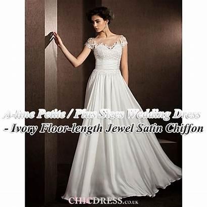 Petite Satin Ivory Dresses Prom Line Jewel