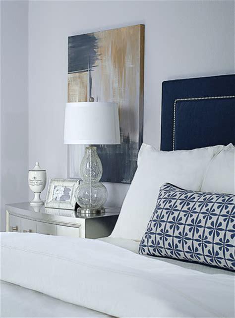 navy and grey bedroom gray and navy bedroom metallic silver nightstand navy