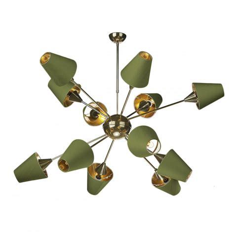 large 12 light olive green ceiling pendant lighting and lights uk