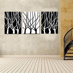 Picture combination black and white of tree wall art