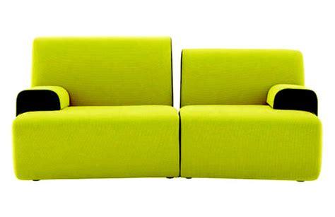 canapé vert anis design contemporain mobilier et décoration cb
