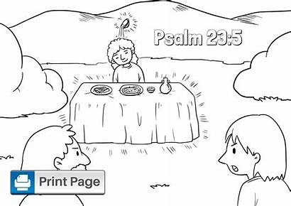 Coloring Psalm Printable Template