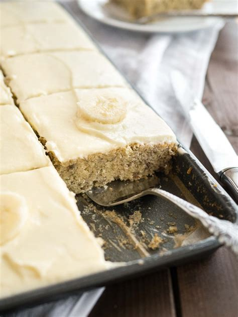 easy banana cake recipe  mascarpone frosting  minutes