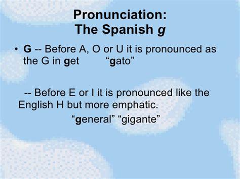 Spanish Pronunciation