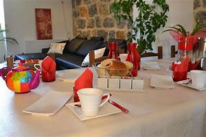 pour chambre d39hote salle des petits dejeuner avec With objet d co cuisine rouge