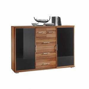 H H Möbel : highboard murano walnuss nachbildung glas schwarz ca 142 x 102 x 38 cm m bel boss ~ Orissabook.com Haus und Dekorationen