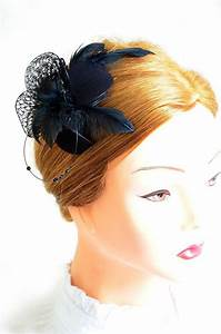 Black Feather Fascinator Wedding Headpiece Bridesmaid