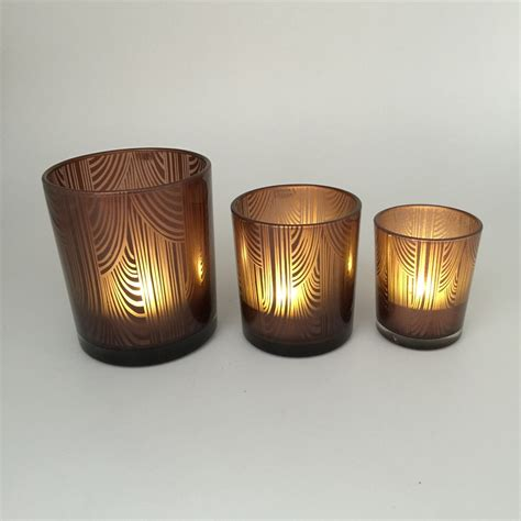 decorative candle holders home decorative glass windproof candle holder