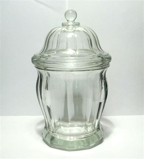 glass ginger jar covered canister   canisters jars