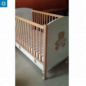 finest lit bb bois et blanc avec tiroir with pic epeiche meuble