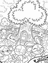 Crossing Animal Coloring Leaf Nook Tom Coloriage Colouring Printable Animals Leaves sketch template