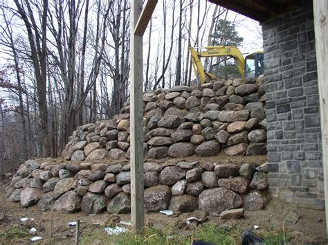 boulders for retaining wall boulder retaining walls