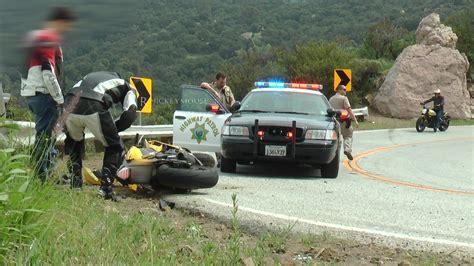 Rider Crash In Front Of Cop (no Injury)