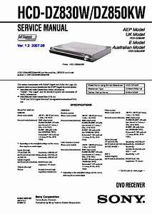 Sony Dav-dz830w  Dav-dz850kw Service Manual