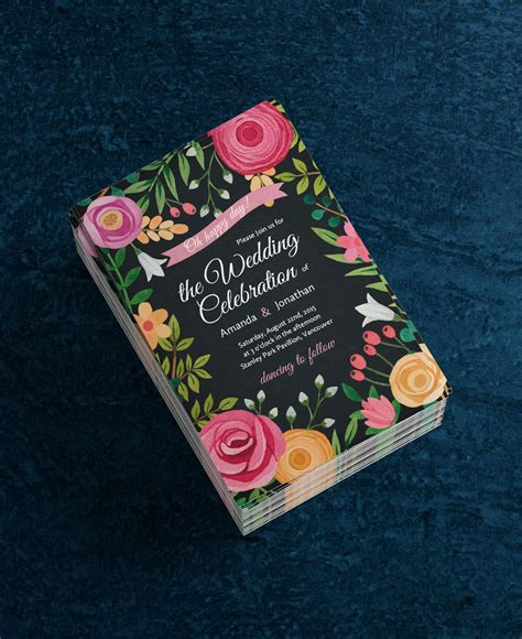 Design your Floral Wedding Invitations in Seconds It's