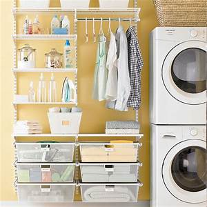 White elfa laundry room the container store for Elfa laundry room solutions