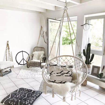 Indoor Swing Sofa by 47 2 Quot Indoor Hanging Chair Macrame Hammock Swing Chair