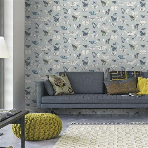 Bedroom Wallpaper Range by Feature Wall Wallpaper For The Lounge Teal Fern Motif