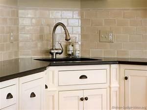 White Kitchen Tiling Ideas Beveled Subway Tile Subway
