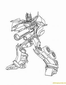 Ausmalbilder Transformers Optimus Prime
