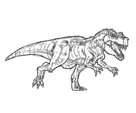 T Rex Kleurplaat by Free T Rex Coloring Pages Jurassic Park T Rex Coloring