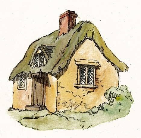 Cottage Clipart Thatched Roof Cottage Clip Reusableart