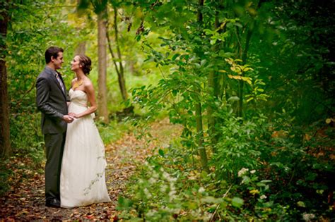 eco chic ohio wedding at local nature preserve junebug weddings