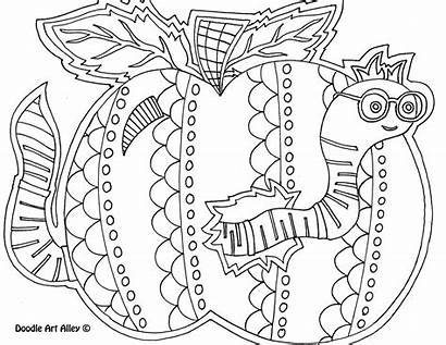Coloring Pages Sheets Days Week Doodle Worm