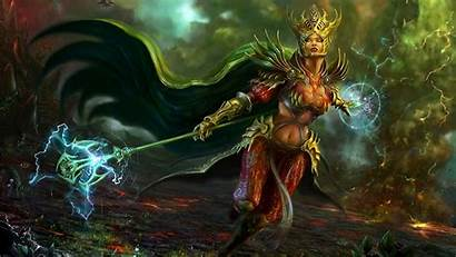 Fantasy Wallpapers Mage Wizard Dark Female Witch