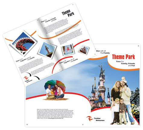 theme park brochure template free water park website templates gallery template design ideas