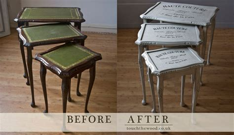 renovating furniture shabby chic vintage shabby chic nest of tables no 14 touch the wood