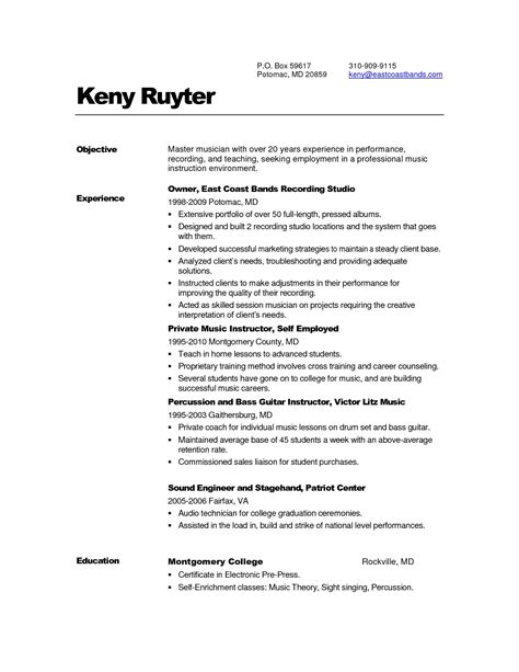 free resume templates executive summary sles one page