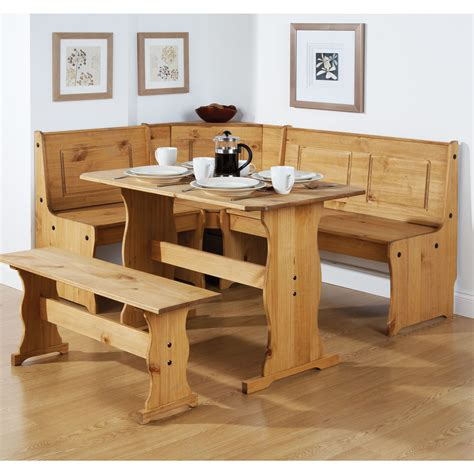 corner bench seat dining table  natural