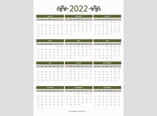 12 Month Colorful Calendar for 2022 Free Printable Calendars