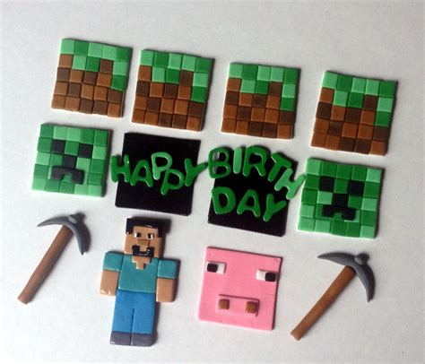 minecraft cupcake toppers cupcakes  dusty pinterest