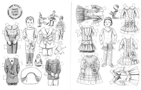 Free Printable Paper Doll Coloring Pages For Kids