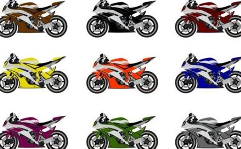Motorcycle Racing Vector Set Free Download