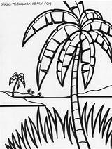 Palm Coloring Tree Trees Jungle Pages Island Simple Drawing Tropical Printable Sheets Printables Leaves Getdrawings Happy Popular Getcoloringpages Christmas Growing sketch template