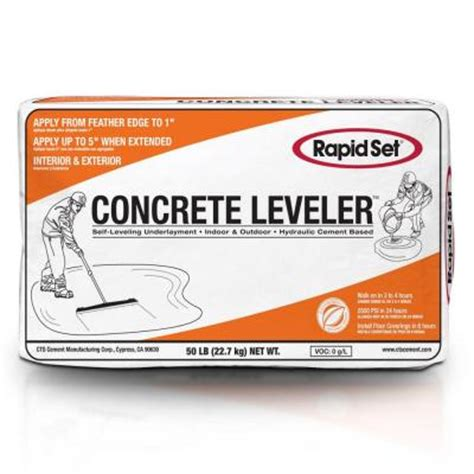 Floor Patch And Leveler Home Depot by Rapid Set 50 Lb Cts Concrete Leveler