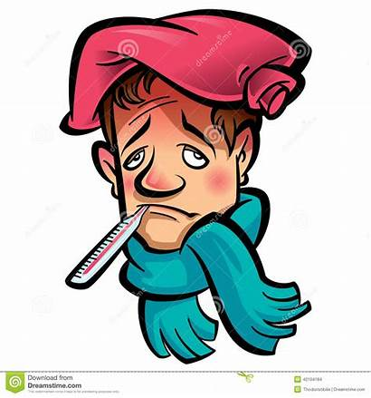 Sick Thermometer Clipart Cartoon Head Ice Patient