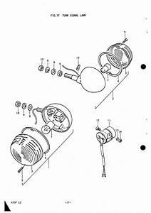 Turn Signal Lamp - Electrical - A50p  Ap50  - Vintage - Vintage Bike Parts