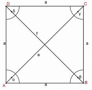 Raute Flächeninhalt Berechnen : umfang und fl cheninhalt von ebenen figuren quadrat ~ Themetempest.com Abrechnung