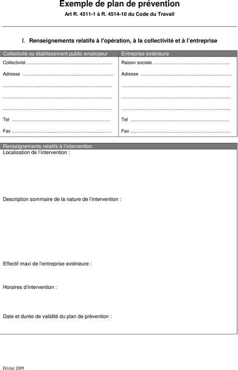 obligations de la collectivite avant intervention d entreprises exterieures plan de prevention pdf