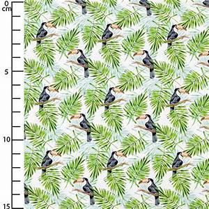 Tissu Imprimé Tropical : tissu coton imprim tropical feuilles de monstera et toucan bl perles co ~ Teatrodelosmanantiales.com Idées de Décoration
